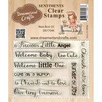 Dreamerland Crafts Clear Stamp Set 3X4 - New Born 01