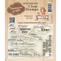Dreamerland Crafts Clear Stamp Set 3X4 - Wedding 01