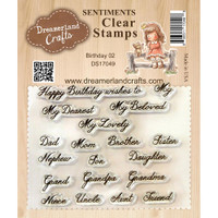 Dreamerland Crafts Clear Stamp Set 3X4 - Birthday 02