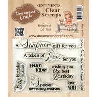 Dreamerland Crafts Clear Stamp Set 3X4 - Birthday 05