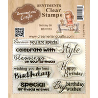 Dreamerland Crafts Clear Stamp Set 3X4 - Birthday 06