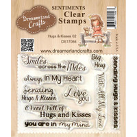 Dreamerland Crafts Clear Stamp Set 3X4 - Hugs & Kisses 02