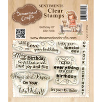 Dreamerland Crafts Clear Stamp Set 3X4 - Birthday 07