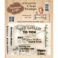 Dreamerland Crafts Clear Stamp Set 3X4 - Birthday 08