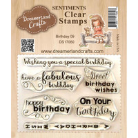 Dreamerland Crafts Clear Stamp Set 3X4 - Birthday 09