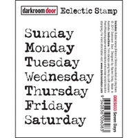 Darkroom Door Cling Stamp, Eclectic Stamp: Seven Days