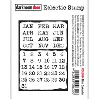 Darkroom Door Cling Stamp, Eclectic Stamp: Mini Calendar
