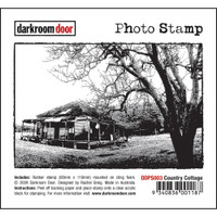Darkroom Door Cling Stamp, Photo Stamp: Cottage
