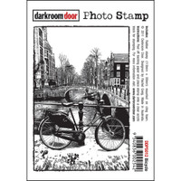 Darkroom Door Cling Stamp, Photo Stamp: Bicycle