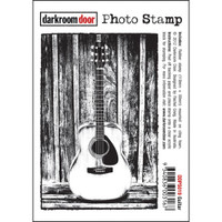 Darkroom Door Cling Stamp, Photo Stamp: Guitar