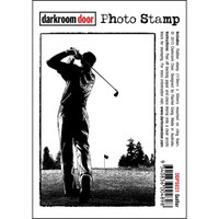 Darkroom Door Cling Stamp, Photo Stamp: Golfer