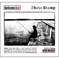 Darkroom Door Cling Stamp, Photo Stamp: Fishing