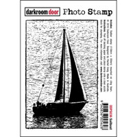 Darkroom Door Cling Stamp, Photo Stamp: Sailboat
