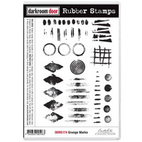 Darkroom Door Cling Stamp, Rubber Stamp: Grunge Mark