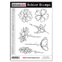 Darkroom Door Cling Stamp, Rubber Stamp: Fine Flowers Vol. 2