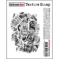 Darkroom Door Cling Stamp, Texture Stamp: Postage Stamp
