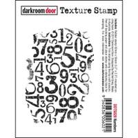 Darkroom Door Cling Stamp, Texture Stamp: Numbers