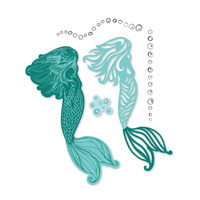 Simply Defined Dies and Stamps Set - Time and Tides Collection, Mermaid Lagoon