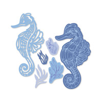 Simply Defined Dies and Stamps Set - Time and Tides Collection, Seahorse