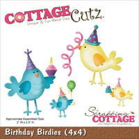 CottageCutz Die - Birthday Birdies
