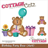 CottageCutz Die - Birthday Party Bear