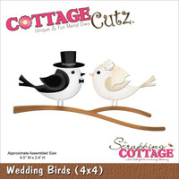 CottageCutz Die - Wedding Birds