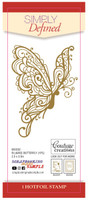 Simply Defined HotFoil Stamp - Filigree Butterfly