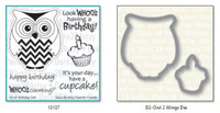 Dare 2B Artzy - Birthday Owl Stamp and Die Set