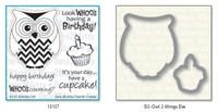 Dare 2B Artzy - Birthday Owl Stamp and Die Set