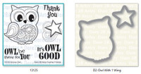 Dare 2B Artzy - Groovy Owl Stamp and Die Set