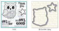 Dare 2B Artzy - Groovy Owl Stamp and Die Set