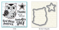 Dare 2B Artzy - Patriotic Owl Stamp and Die Set