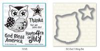 Dare 2B Artzy - Patriotic Owl Stamp and Die Set