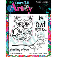 Dare 2B Artzy - Owl Miss You Stamp