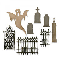 Sizzix Thinlits Die Set 8PK by Tim Holtz - Village Graveyard