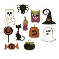 Sizzix Thinlits Die Set 11PK by Tim Holtz - Mini Halloween Things