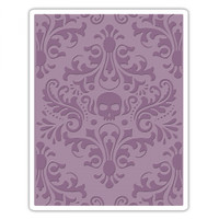 Sizzix Texture Fades Embossing Folder - Skull Damask