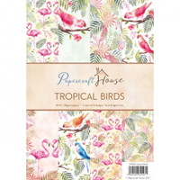 Wild Rose Studio, Papercraft House - Tropical Birds