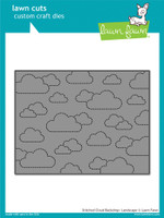 Lawn Cuts Custom Craft Die, Stitched Cloud Backdrop - Landscape