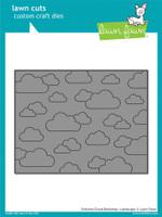 Lawn Cuts Custom Craft Die, Stitched Cloud Backdrop - Landscape