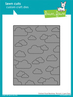 Lawn Cuts Custom Craft Die, Stitched Cloud Backdrop - Portrait