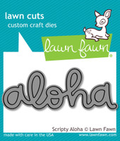 Lawn Cuts Custom Craft Die - Scripty Aloha