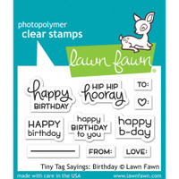 Lawn Fawn Clear Stamps Tiny Tag Sayings: Birthday