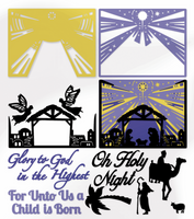 Simply Defined Dies Set - Classic Christmas, Kaleidoscope Nativity Scene  (Not Part of the Bundle)