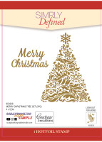 Simply Defined HotFoil Stamps - Merry Christmas Tree Set