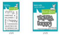 Lawn Fawn Clear Stamps and Dies Bundle - Happy Happy Happy Add-On
