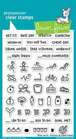 Lawn Fawn Stamps - Plan on It: Fitness