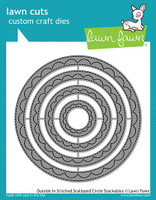 Lawn Fawn Stackables Dies - Outside In Stitched Scalloped Circle