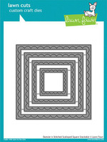 Lawn Fawn Stackables Dies - Outside In Stitched Scalloped Square