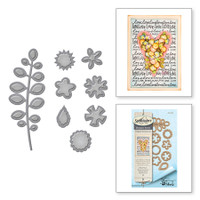 Spellbinders Shapeabilities Etched Dies By Tammy Tutterow - Bitty Posies